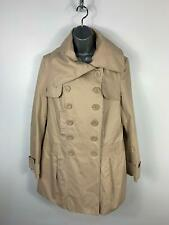 WOMENS NEW LOOK COMBINATION SAND LIGHT BEIGE CASUAL TRENCH COAT JACKET SIZE 14