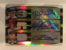 2006 Topps Triple Threads - Mike Schmidt David Wright Hill Auto Patch #7/9 GOLD
