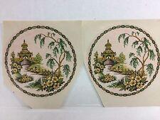 Ceramic decals watermount oriental pagoda garden design lot of 12