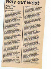 PETER TOSH - RAINBOW REVIEW press clipping 1981 15x10cm (11/7/1981)