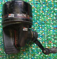 Classic Abu Garcia Black Max Syncro Spincast Fishing Reel Rh - Working Oop Neat!
