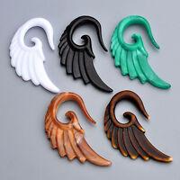 1x Punk 3-10MM Acrylic Angel Wing Spiral Taper Ear Plugs Expander Stretcher Ga