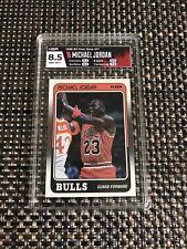 1988-89 FLEER #17 MICHAEL JORDAN CARD BULLS  HGA 8.5 NM-MT+