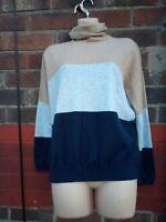 Next jumper 90%Cashmere 10% Silk Size 12 jumper Camel Black Beige Polo roll neck