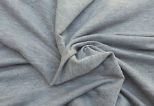 Heather Gray French Terry Knit Fabric Rayon Spandex Blend By the Yard 12-11-15