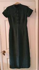 Dark Green lined Silk Dress by Monsoon, size 12