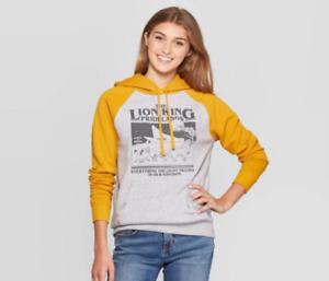 Disney Lion King Hooded Sweater (Juniors') - Disney - L - Yellow/Gray - J423