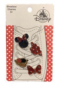 Disney Minnie Mouse Shoe Shoelace Charms Set Super Cute! New!