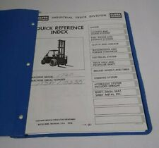 Vintage Clark Parts it60 Parts Manual Quick Reference Guide It60 Forklift