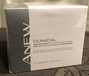 New Sealed Anew Clinical Advanced Retexturizing Peel with Glycolic Acid 30 Pads