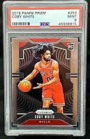 2019 Prizm Chicago Bulls RC Star COBY WHITE Rookie Basketball Card PSA 9 MINT