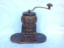 MOULIN à CAFÉ bois sculpté fer forgé XVIIIeme 35cm Coffee grinder art populaire