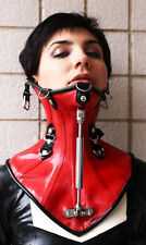 Latex Rubber Halskorsett avec vice Boulon/Neck Corset Posture
