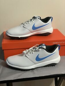 New Nike Roshe G TourMen'sGolf ShoesSize 10.5WideAR5579-105 White/Carolina Blue