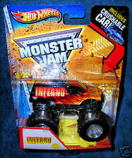 HOT WHEELS 2013 INFERNO FIRST EDITION MONSTER JAM TRUCK CRUSHABLE LEGENDS NEW