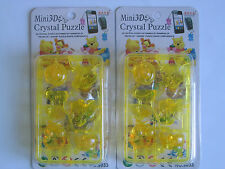 One Pair Mini 3D Winnie the Pooh (Pink & Yellow) Phone Strap (Ship from USA)