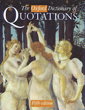 """""""VERY GOOD"""" The Oxford Dictionary of Quotations, , Book"""