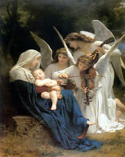 BOUGUEREAU SONG OF ANGELS CANVAS GICLEE SAMPLE ART PRINT 10X8