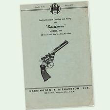 Harrington & Richardson Gun Manuals for sale | eBay