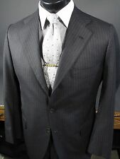 $6000 KITON Charcoal Gray Wool Suit 38R US, 3 Button 3/2 Roll.