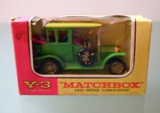 MATCHBOX Y3 1910 BENZ LIMOUSINE Lime Models of Yesteryear Lesney  1:54