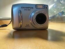 Olympus FE FE-110 5.0MP Digital Camera - Silver Tested w/Factory Manual