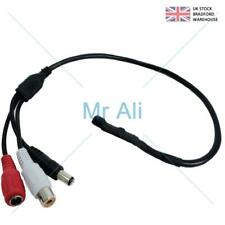 CCTV MIC Voice Audio Microphone with RCA Output for CCTV Camera DVR Indoor Spy