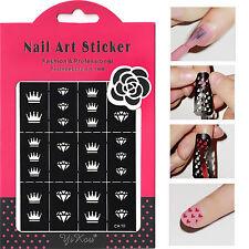 Nail Stencils - Nail Art Decoration Sticker Crown&Diamond Patterns