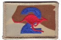 Army Australia OBG2 Iraq Deployment Patch hook backing