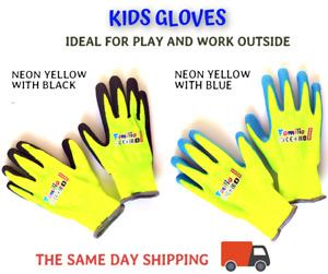 KIDS GLOVES Garden Protective Work Lightweight Flexible Professional Foamed