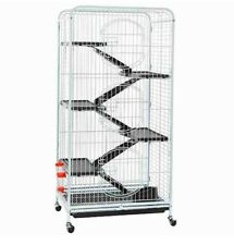 USED 52 Inch 6 Level Ferret Small Animal Cage On Wheels Indoor 3 Front Door