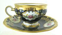 Beautiful Echt Weimar Kobalt Demitasse Porcelain Cup & Saucer Circa 1933-1945