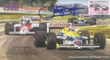 1986b WILLIAMS-HONDA FW11s PAUL RICARD F1 Cover signed JOHNNY DUMFRIES