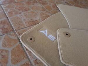 Floor mats audi a6 c7 beige