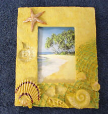 "Acrylic Picture Frame 3.5x 5"" Photo Tropical Beach Sand Shells Fun Sun NEW VV7"