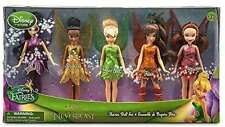 """Tinker Bell and Fairies Legend of the NeverBeast 5 Piece Doll Set 5""""  Disney New"""
