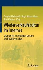 Wiederverkaufskultur Im Internet : Chancen Für Nachhaltigen Konsum Am...