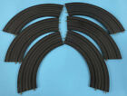 """LOT OF 6 Atlas HO Scale Slot Car Track 1233 9"""" Radius 1/4 Section Curved Vintage"""