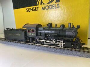 Sunset Models HO Scale BRASS PRR Pennsylvania 2-8-0 H-6sa Steam