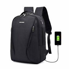 Mens Anti Theft Lock Laptop Backpack Usb Charging Business Travel School Bag