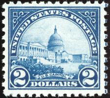US 572 $2 1923 United States Capitol F-VF NH