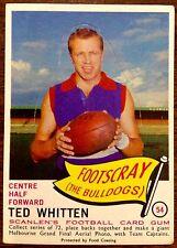 1966 SCANLENS DIE CUT VFL CARD NO. 54/72 FEATURING TED WHITTEN FOOTSCRAY