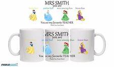 Teacher Gift PErsonalised 11oz coffee mug cup Princess School End Thank You