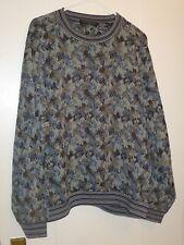 Jhane Barnes Multi-Color Wool Blend Crewneck Sweater, Size XL