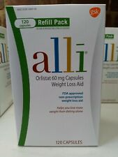 Alli Weight Loss Aid Orlistat 60 Mg Capsules,120 Count Expires February 2022
