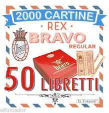 Cartine BRAVO REX Corte FINISSIME Regular 50 LIBRETTI 2000 Fogli