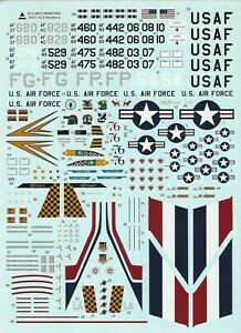 Accurate Miniatures 1/72nd Scale F-4C/D Phantom Decals from Kit No. 0410