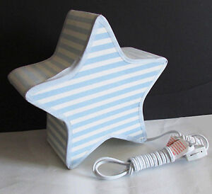 "Child's Bedside Electric Table Lamp STAR child nursery decor vtg 9.75"" FREE SH"
