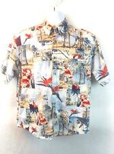 Crossings Men's Medium Cotton Hawaiian Style Button Front Short Sleeve Shirt