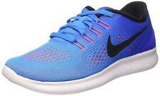 Women's Nike Free RN Blue Glow/Black Running Training Shoes Size 8.5
